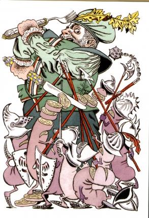 Claude Pieplu, Michel Galabru et Jacque Fabbri racontent Gargantua suivi de Pantagruel d'après l'oeuvre de François Rabelais illustré par Nicole Claveloux / Nicole Claveloux. - Paris : éditions Thierry Magnier, 2004.