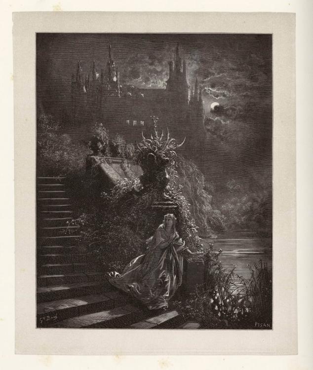 Poster Affiche Peau D/'Ane Conte Illustration Gustave Dore Gravure