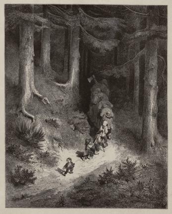 Conte du Petit Poucet • Extrait des Contes de Perrault/ Charles Perrault ; dessins par Gustave Doré ; préface de P.-J. Stahl. - Paris : Hetzel, 1862. • gravure • Bibliothèque de Bourg-en-Bresse