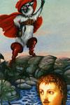 Le Petit Chaperon rouge rejoignant le loup dans le litConte du Petit Chaperon rouge, extrait des Contes de Perrault illustrés par Kelek/ Charles Perrault ; Kelek. - Paris : Hatier, 1986.ImpriméBibliothèque de Bourg-en-Bresse
