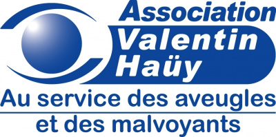 logo de l'association Valentin Haüy<br>