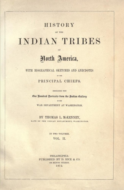 History of the Indian Tribes of North America .<br>Thomas McKenne
