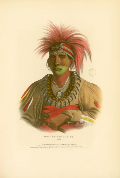 Gravure : Otoe.<br><i>History of the Indian tribes of North America<br></i>© Bibliothèque municipale de Grenoble