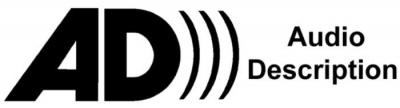 Logo de l'audiodescription.<br>